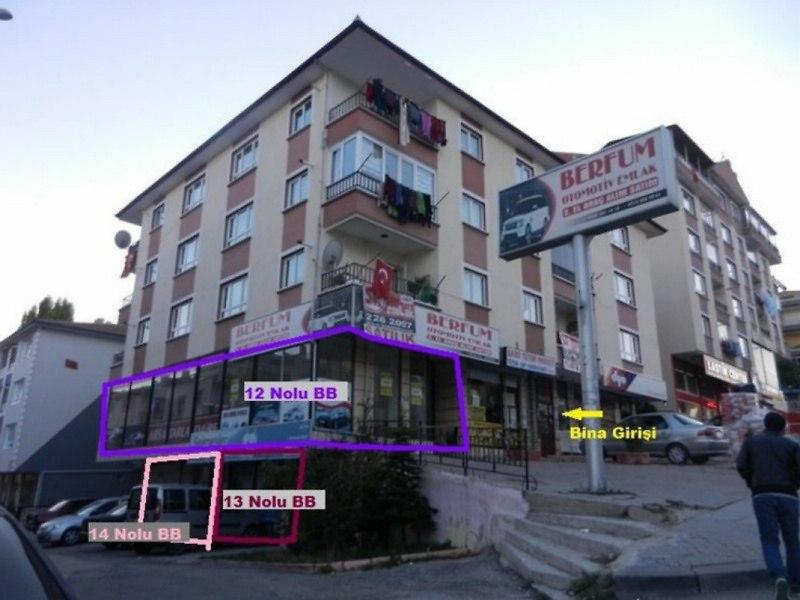 Ankara Etimesgut'ta 2 Dükkan (13-14 no.'lu)