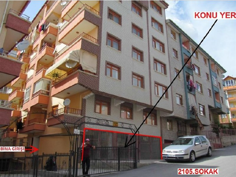 Ankara Etimesgut'ta 62 m2'lik Dükkan