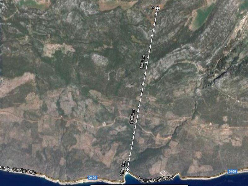 Antalya Kaş Şirketten Satılık 9737 m2 Tarla
