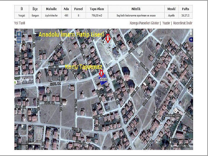 Yozgat Sorgun Bankadan Satılık 125 m2 Daire