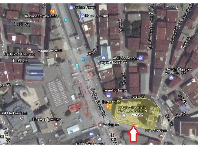 İstanbul Esenyurt Bankadan Satılık 168 m2 Dükkan