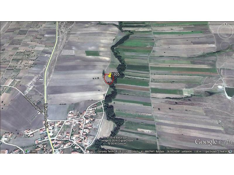 Edirne Süloğlu Bankadan Satılık 3900 m2 Tarla