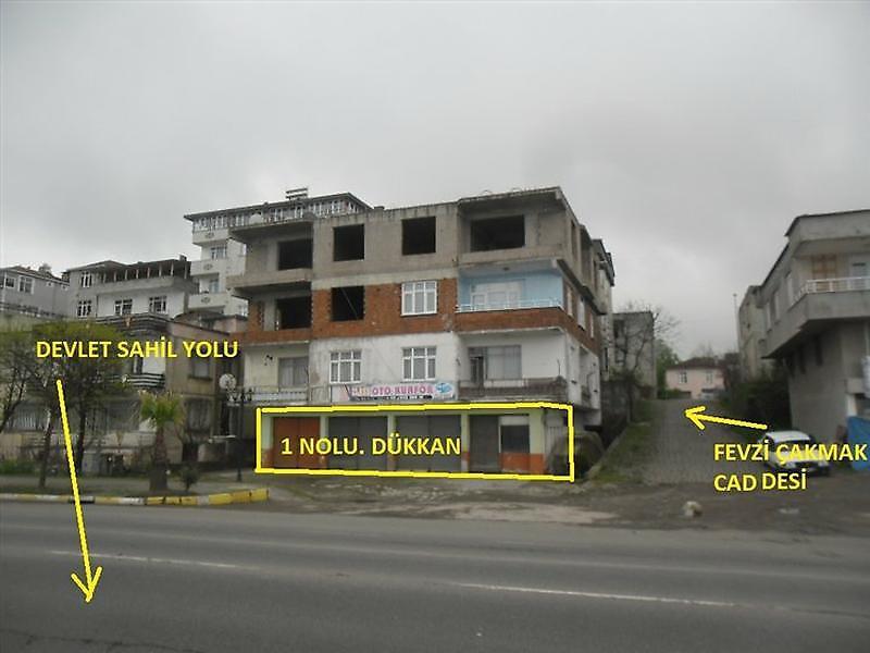 Ordu Ünye Bankadan Satılık 122 m2 Dükkan