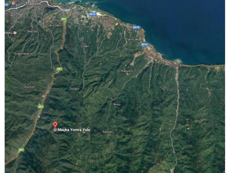 Trabzon Merkez Şirketten Satılık 872 m2 Tarla