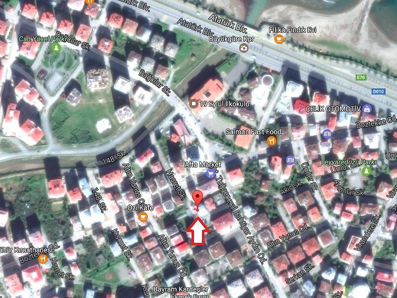 Giresun Merkez Bankadan Satılık 133 m2 Daire