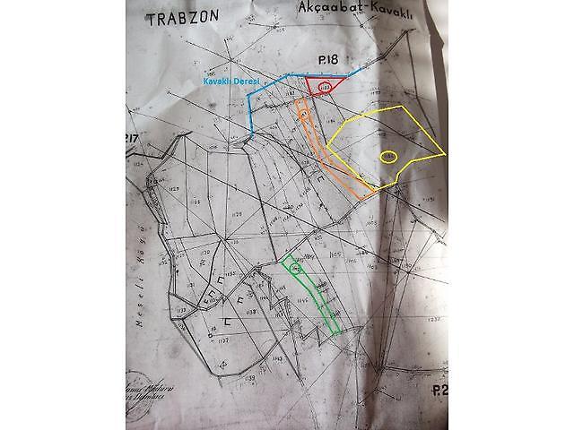 Trabzon Akçaabat Şirketten Satılık 4755 m2 Tarla