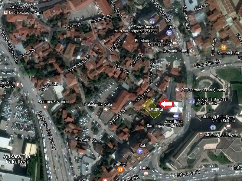 Ankara Altındağ Sahibinden Satılık 148 m2 İmarlı
