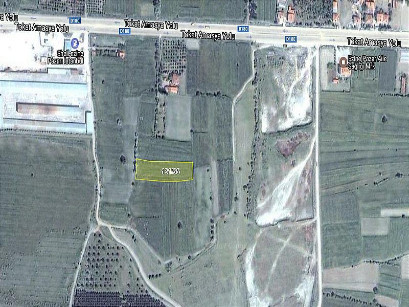 Amasya Merkez Şirketten Satılık 3782 m2 Tarla