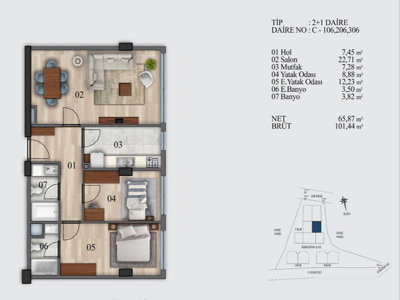İstanbul Kadıköy Şirketten Satılık 102 m2 Daire