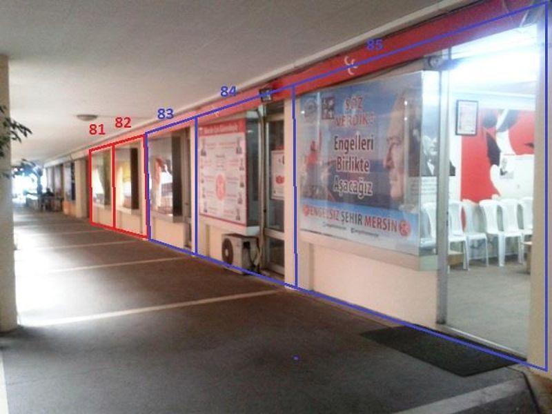 Mersin Akdeniz Mahmudiye'de 25 m2 Dükkan (No:81)