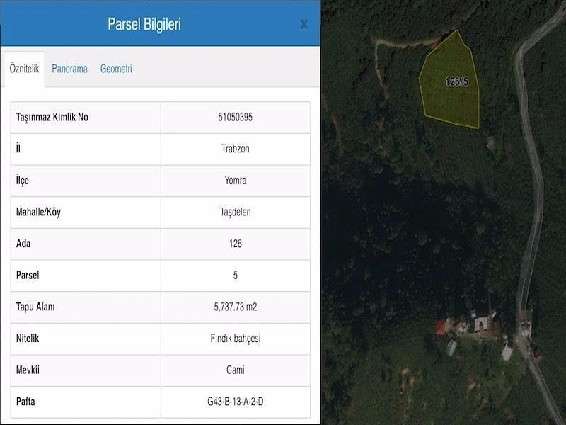 Trabzon Yomra Sahibinden Satılık 5737 m2 Bağ & Bahçe