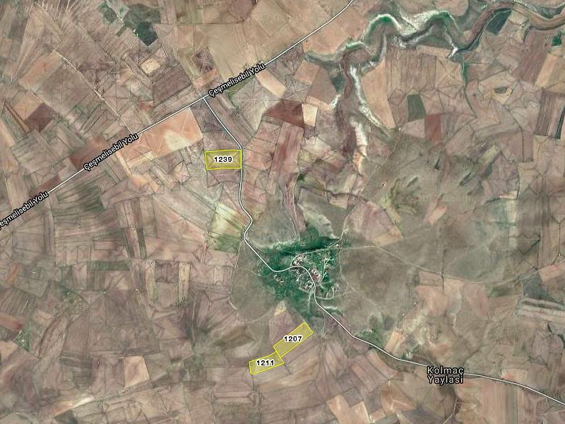 Konya Cihanbeyli Pınarbaşı'nda 175000 m2 3 Adet Tarla