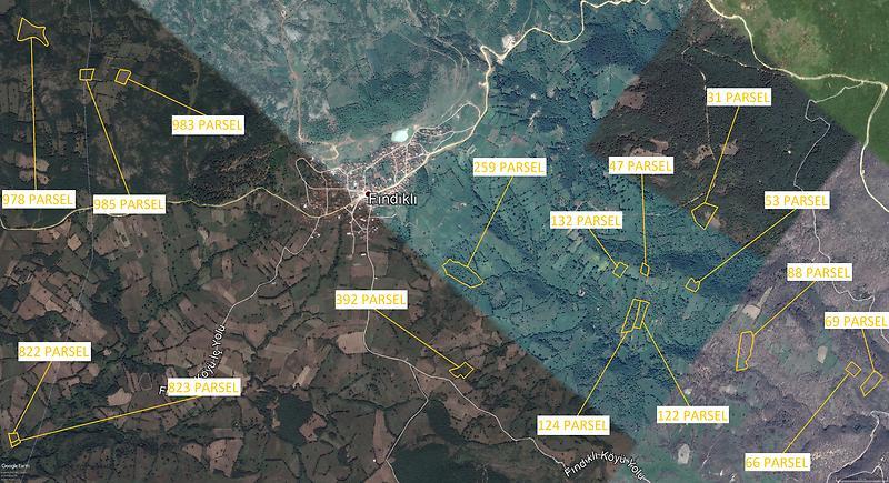 Balıkesir Gönen Fındıklı Köyünde Toplam 126.600 m2 16 Tarla