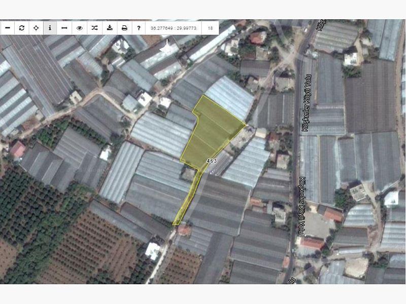Antalya Demre Bankadan Satılık 3375 m2 Tarla