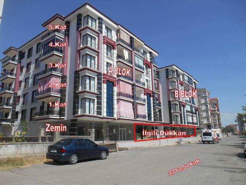Aksaray Şeyhhamit Mahallesinde 1387 m2 Dükkan