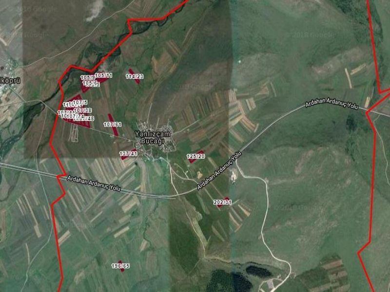 Ardahan Merkez Yalnızçam Köyü 9084 m2 Tarla