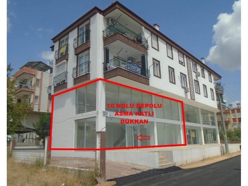 Antalya Kepez Varsak Karşıyaka Mahallesinde Asma Katlı Depolu Dükkan