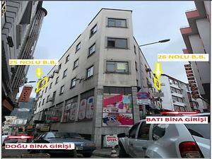 Trabzon Ortahisar İskenderpaşa Mahallesinde Büro