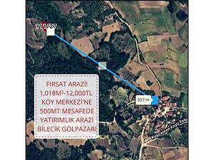 Bilecik Gölpazarı Kuşçuöre Köyü'nde 1.018 m2 Tarla