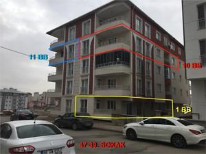 Sivas Merkez Şeyh Şamil Mahallesinde 3+1 Daire