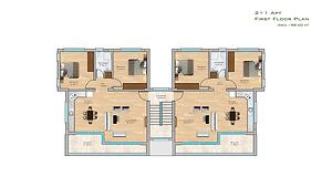 Kıbrıs Gazimağusa Kalecik'te 123 m2 2+1 Daire