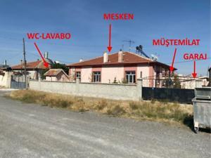 Konya Cihanbeyli Yeniceoba Mahallesi'nde İskanlı148 m2 Müstakil Ev ve Arsası