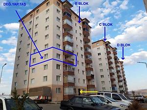 Sivas Merkez Ahmet Turangazi Mahallesi'nde 2+1 85 m2 Daire