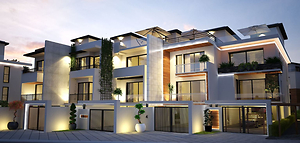 Girne Zeytin Homes'ta Townhouse 3+1 Triplex Daireler