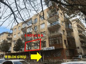 Ankara Çankaya Fındıklı Mahallesi'nde 2+1 90m2 Kiracılı Daire