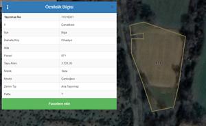 Çanakkale Biga Cihadiye Mahallesi'nde 3325 m2 Tarla