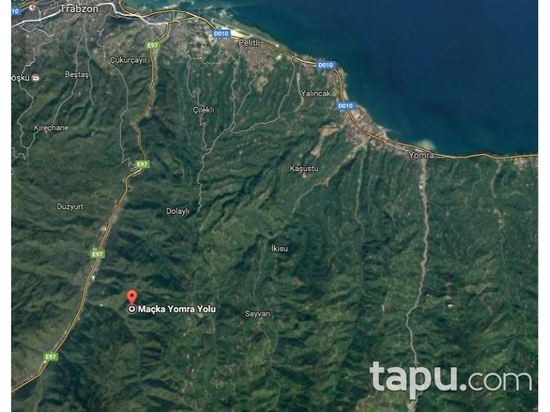 Trabzon Ortahisar'da 872 m2 Tarla ve Fındık Bahçesi