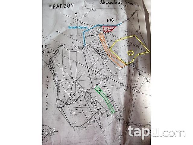 Trabzon Akçaabat'ta Kavaklı 4755m2 2 Adet Tarla
