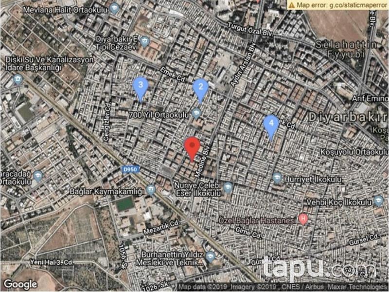 Diyarbakır Bağlar Şeyh Şamil Mahallesinde 89 m2 Depo