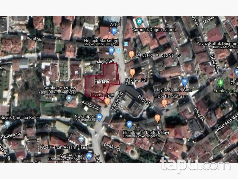 İstanbul Üsküdar Ferah Mahallesinde Dubleks Daire
