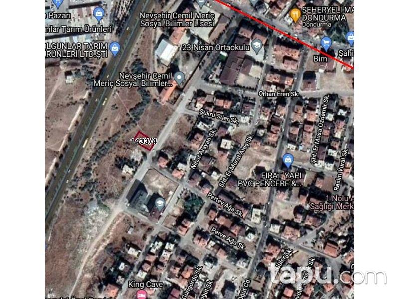 Nevşehir Merkez Sümer Mahallesi'nde 529 m2 Arsa