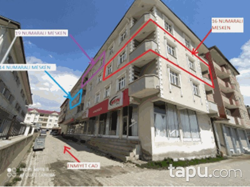 Van Muradiye Yenişehir Mahallesi'nde 2+1 88 m2 Daire
