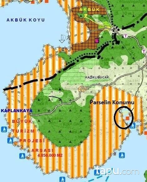 Muğla Milas Bozbük'te Denize Sıfır Turizm İmarlı Hisseli Arsa