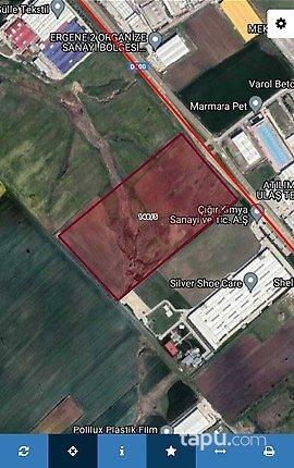 Tekirdağ 2 Ergene OSB Çorlu'da E 5 Üzerinde 86 Dönüm Sanayi Arsası